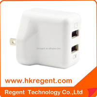 Super 5v 2.1Amp multi usb cell phone travel charger in US plug support for Smart phone/Tablet etc