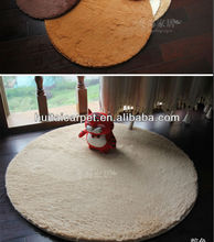 microfiber super soft round floor rugs MIX COLOR round superfine SOFT floor mat with pvc anti-slip bottom for FLOOR
