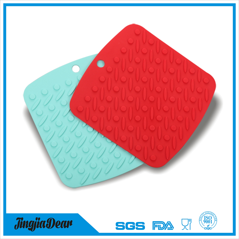 heat resistant silicone place mat, silicone dish trivet mat, conductive rubber pot holders