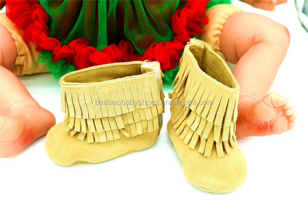 Hot design shoes kids 2017 Wholesale Yellow leather Baby boots boys and girls