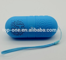 Capsule Shape Portable Blue tooth Speaker 3W Output Support to Insert TF Card to Play Music FM Radio Mini BT V3.0 Speaker