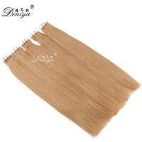 Human hair 27 blonde 40 pieces tape hair extensions