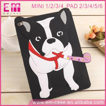 2017 Newest Bulldog Credit Card Adjustable Silicone Funcky Case for Apple iPad 2/3/4/5/6