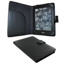 Black PU Leather Case for Amazon Kindle Touch 3G and Paperwhite e-reader