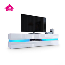 New Style Gloss Wood Design Storage Led TV Stand JS-TS017