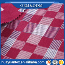 100% cotton double cloth check yarn dyed fabric
