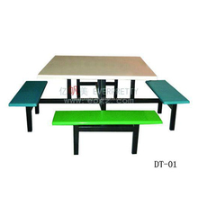 High Quality Fiberglass Dinning Room Table and Chair Set for School Mess