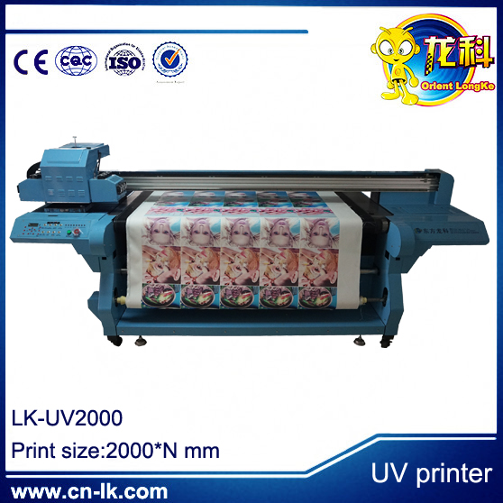 uv led flatbed printer Longmen-UV2030 roll to roll digital label printing machine