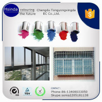 factory price electrostatic spray glossy finish aluminium windows powder coating