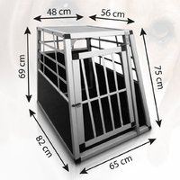 Aluminum Dog Pet Cage Transport Crate Travel Carrier Box 54 x 69 x 50 cm