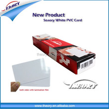 Low cost PVC thermal printable white blank card with double side film lamination