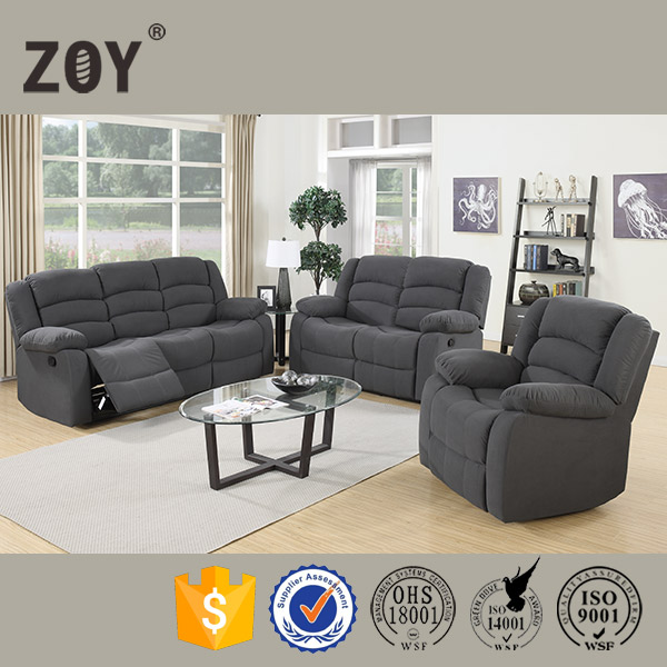 Lazy boy fabric living room furniture motion recliner sectional sofa ZOY 9824A