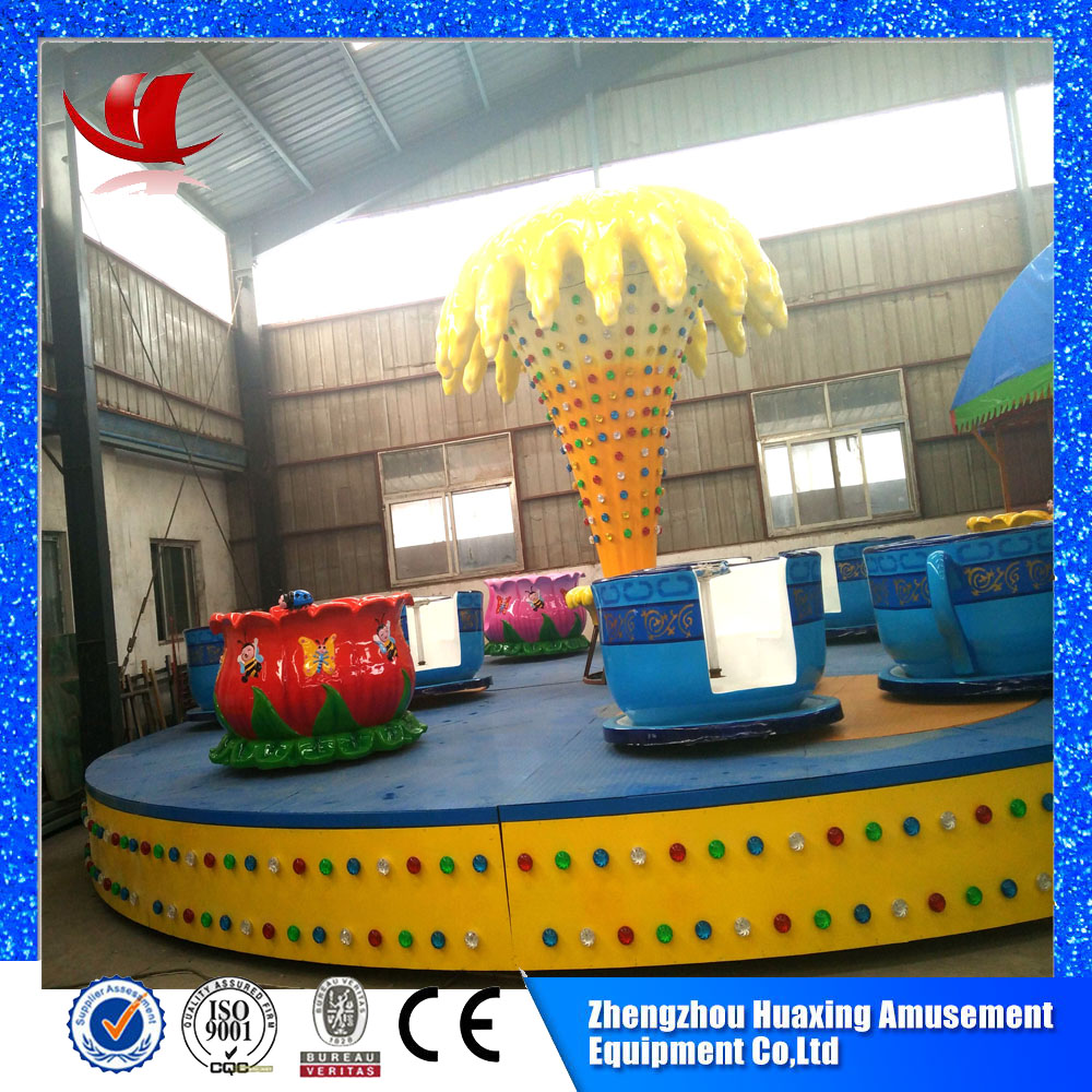 Cheap coin operated amusement rides manufacturer tea cup for kiddie