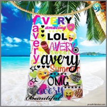 [factory direct ]100% cotton velour reactive printed 10pcs beach towel