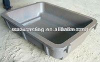 OEM alloy steel AISI8630 casting sow mold dross pan skim pan for aluminum scrap recycling manufacturer