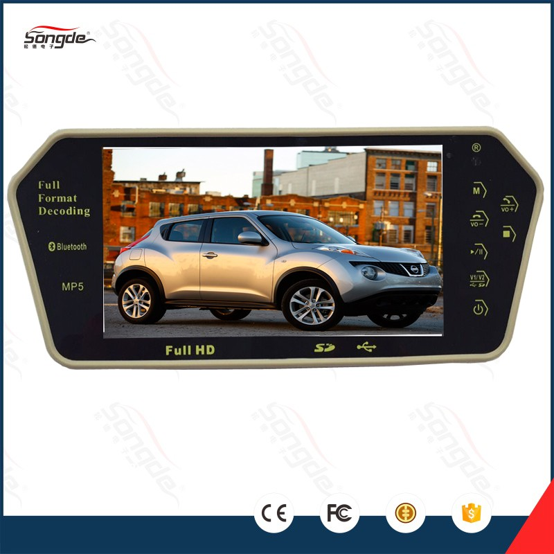 7 and 9 inch touch button bluetooth rear view mirror car tv
