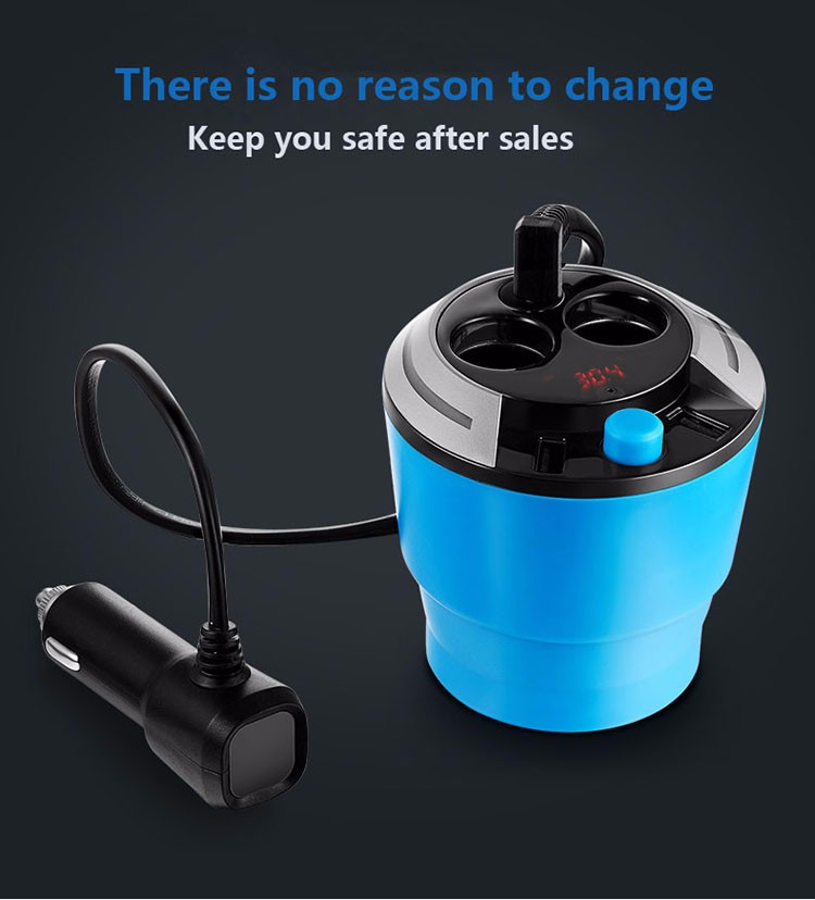GXYKIT Dual usb car charger cup with LED Car Charger for iphone samsung and android device