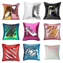 Wholesale new DIY two color change reversible mermaid sequin pillow