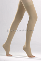 open toe Medical compression stockings above knee -AG