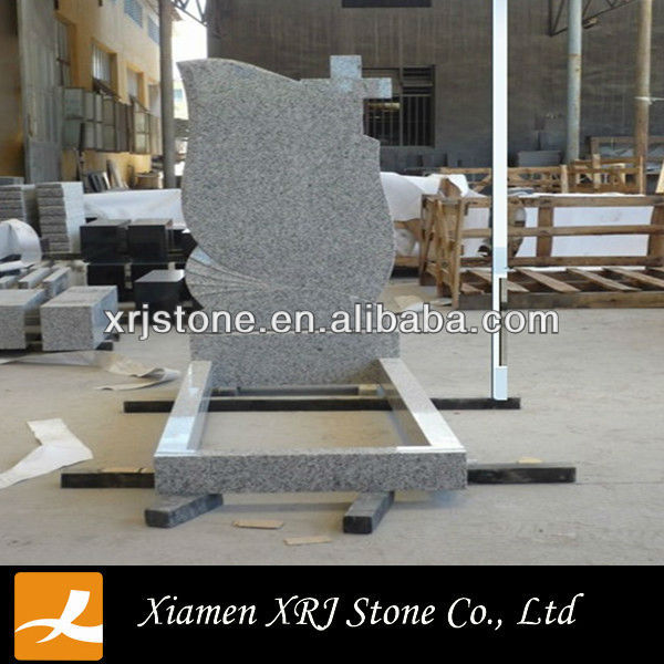 china G435 white granite headstones/ flat headstone