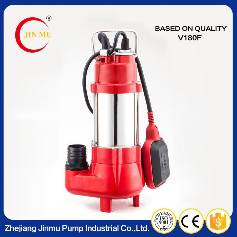 China high quality high pressure portable sewage pumps submersible pump list with float switch for sale