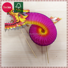 New year 2015 handmade paper chinese carnival dragon