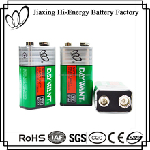 Environment Friendly 9V 6F22 Carbon Zinc Battery For LED Ceiling Light
