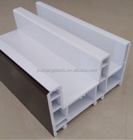 upvc profiles 80 sliding frame for pvc window and doors/plastic h profile/extruded plastic profile