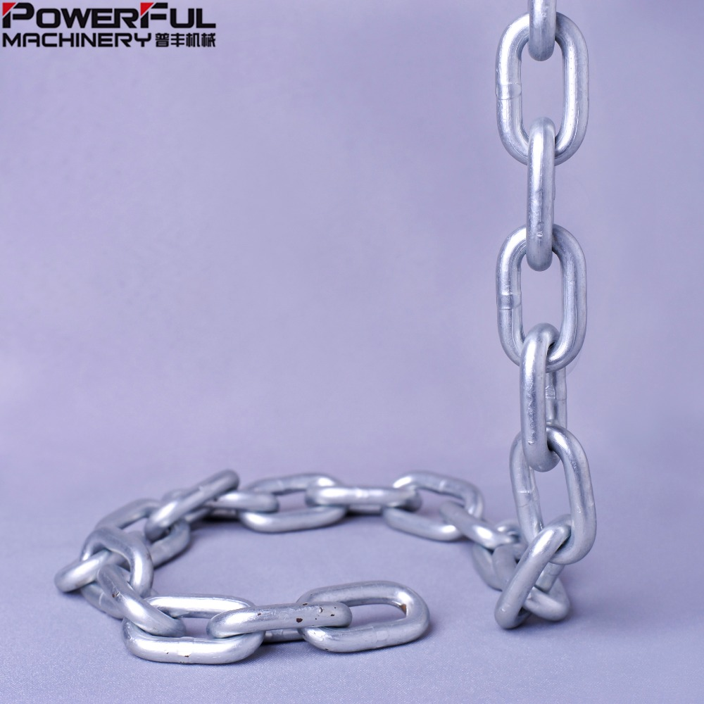 "US Standard Zinc plated Proof Coil Link <strong>Chain</strong> 3/8""*400'"