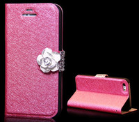 New Luxury Magnetic Clip Card Holders Diamond Bling Wallet Case Silk Pattern for iphone s3,s4,note 1,note 2,note 3