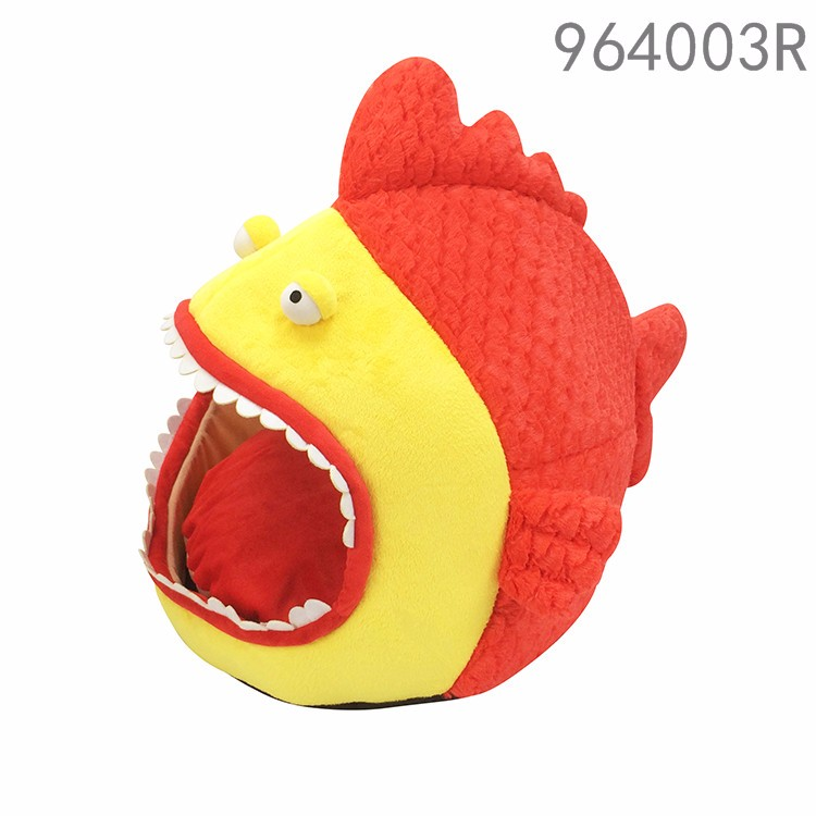2017 requin conception Chien chat pet lit 3D en peluche pliage chat cage