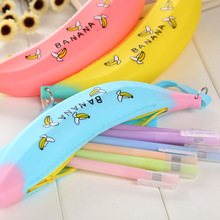 Promotion Gift Waterproof School Students Soft Silicone Pen Pencil Bag