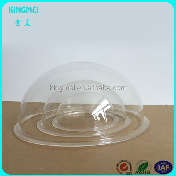 Custom Large Clear Acrylic Dome with Base