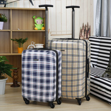 single trolley light weight custom polycarbonate canvas printed suitcase