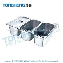 Chinese factory high quality hotel kitchen equipment 1/3 size stainless steel gastronorm pan