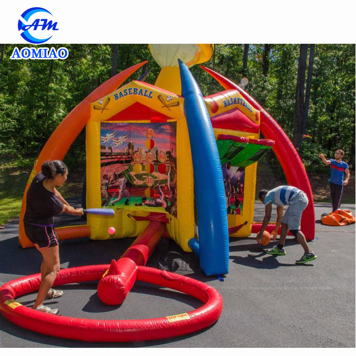 Inflatable 5 in 1 Carnival Basketball Game, Outdoor Inflatable Sport game for kids