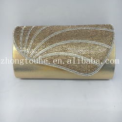 high quality fashion shining rhinstonePVCparty bags