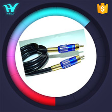 RCA cable with aluminium alloy connector good pvc jacket