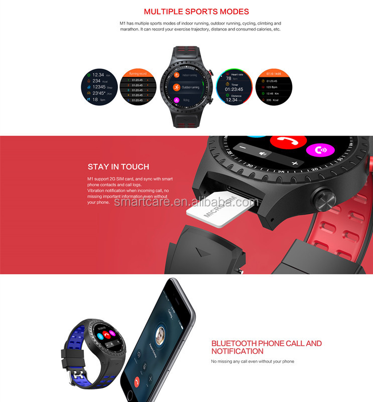 2018 Best seller  new build -in GPS ,Compass and blood pressure sport smart watch