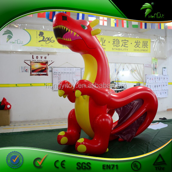 Popular Inflatable Cool Dragon Red / Size 2.5m Giant Inflatable Dragon Replica for Advertising / Inflatable Sex Animals