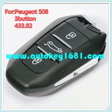 MS original smart card remote control key 433mhz for peugeot 508 car key
