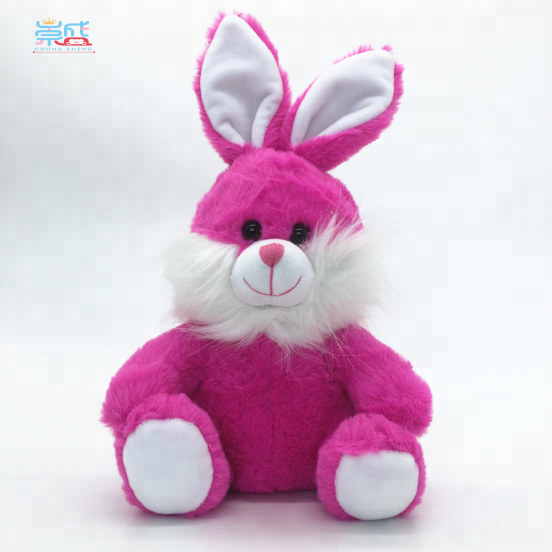 2018 Yangzhou Cheap Wholesale Plush Stuffed Lovely Fashion Rose Red <strong>Rabbit</strong>