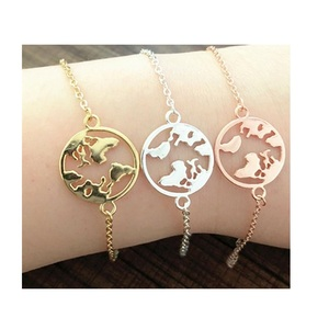 2019 necklace hot style world map bracelet hot first accessories women accessories creative new wholesale