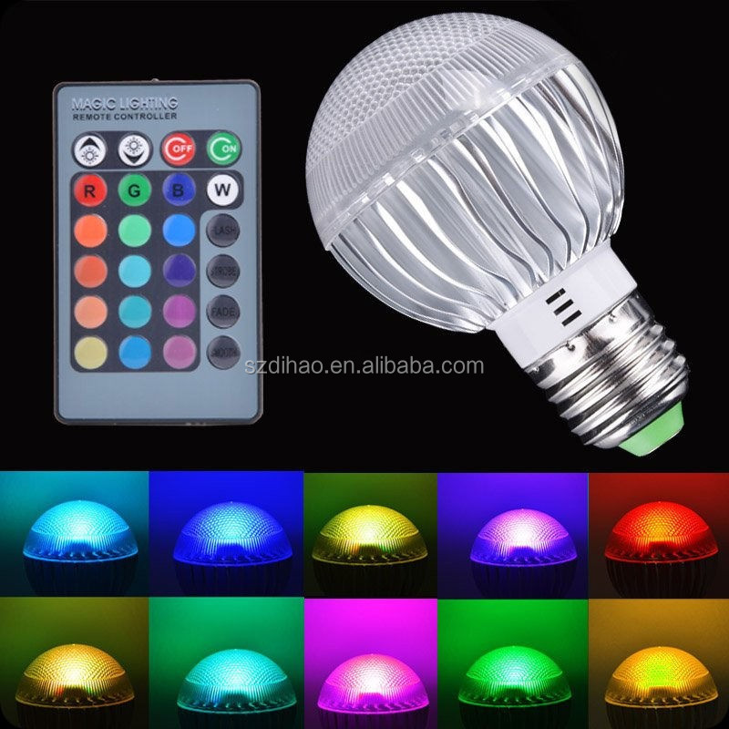 DIHAO E27 15W RGB LED Light Color Changing Lamp Bulb 85-265V With Remote Control Sales