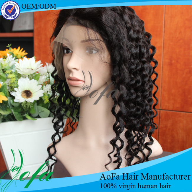 by handing frontal lace wig with loose deep wave weave hair styles