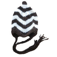 Top design baby hat crochet pattern chevron knit hat