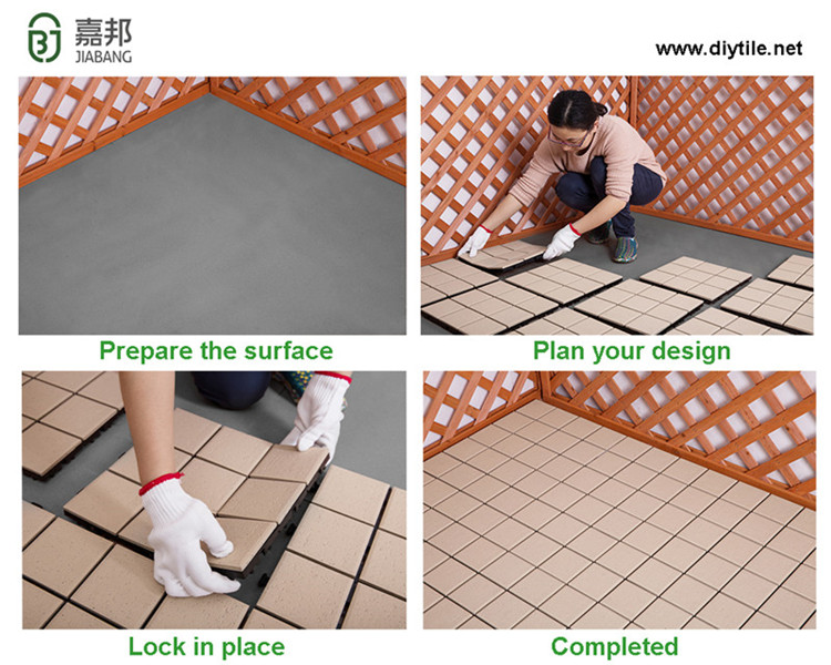chinese supplier cheap porcelain decking tile raised floor interlocking ceramic tiles