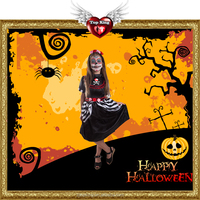 2016 New Sexy Haloween Costumes Kids Cosplay Carnival Halloween Miss Death Dance Costumes For Kids Girl