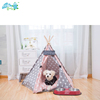 Comfortable diy canvas wooden luxury camping pet tents for dog