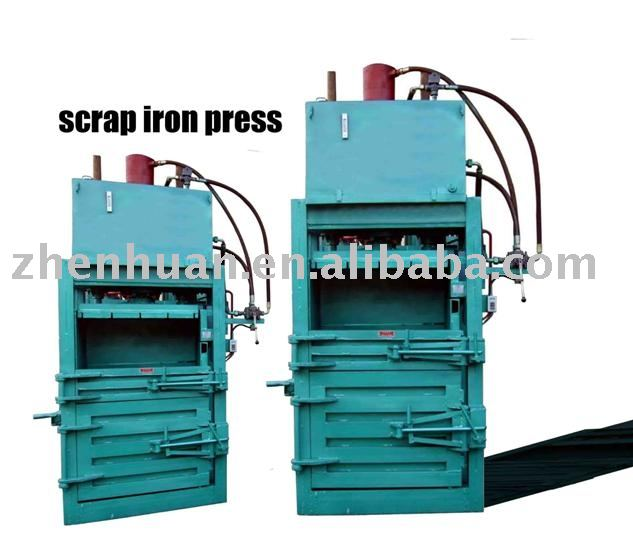 hydraulic scrap iron baling machine, scrap inro press, scrap inro baler